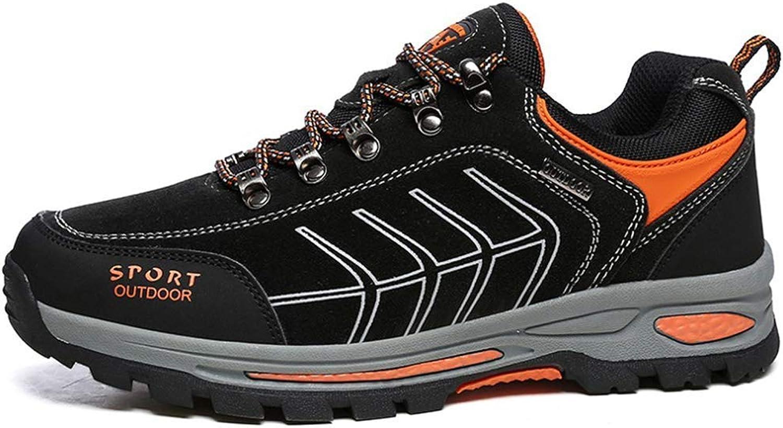 ZHRUI Men Hiking shoes Outdoor Trekking Camping Hunting Tourism Anti-Slip Waterproof Climbing Mountain shoes Male Sport Sneakers (color   Black, Size   6.5=40 EU)