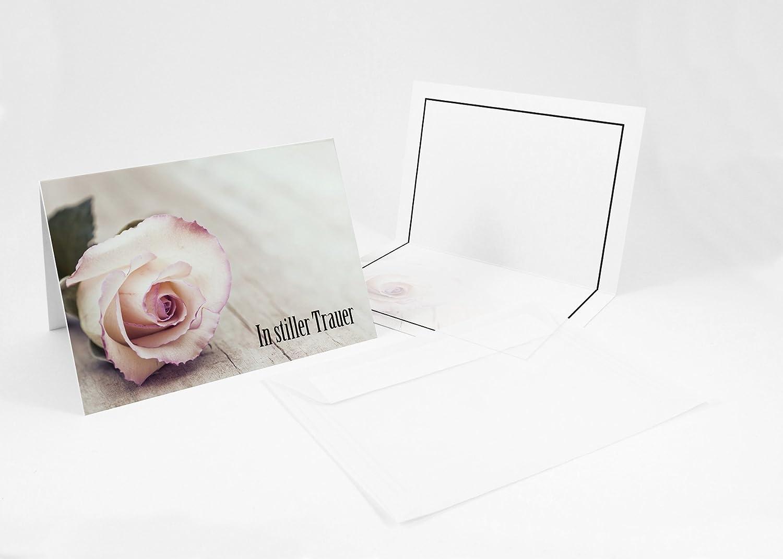 100 Beileidskarten,Trauerkarten  UmschlagIn stiller Trauer, A6, B01N03ZYG7 | Schön geformt