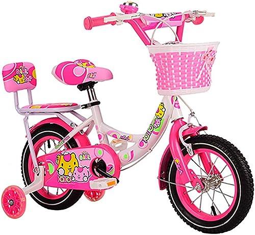 compra limitada GAIQIN Durable Bicicleta para Niños Adecuada para para para Niños y niñas de 4 a 11 años de Edad, Manos frenadas, operación Segura (con Cesta y Asiento Trasero) (Color   rojo, Tamaño   18inch)  ventas en línea de venta