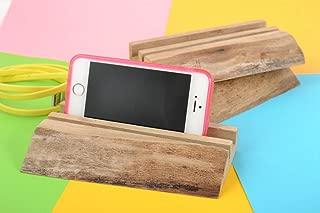 Set Of Designer Wooden Varnished Homemade Tablet Holders For Desktop 3 Items