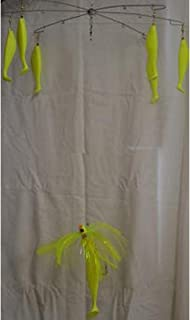 Blue Water Candy 60027 15-Inch Standard Umbrella Rig, 6 Arms, Chartreuse Finish