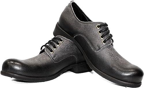 Modello Carbon - Cuero Italiaño Hecho A Maño Hombre Piel Color gris Zapaños Vestir Oxfords - Cuero Cuero Suave - Encaje