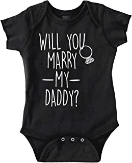 Brisco Brands Will You Marry Daddy Cute Newborn Proposal Romper Bodysuit