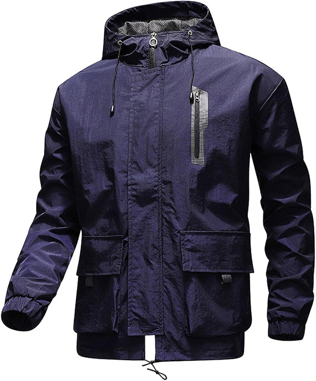 Men's Windproof Windbreaker Jacket Ski Popular product Sale Waterproof Zipper Hooded