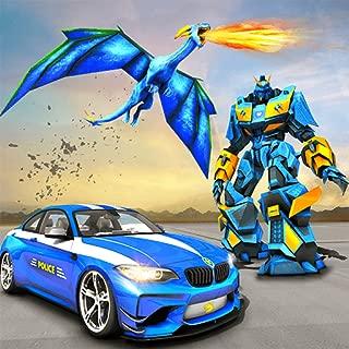 Futuristic Dragon Robot Fighting Car Robot Action Game