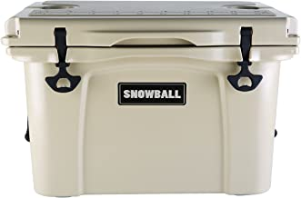 Snowball Rotomolded Cooler with Bottle Holder and Latch Opener Insulation Ice Chest 35L(37QT) Tan