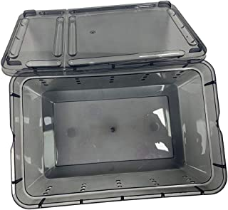 CUTICATE Reptile Lizards Feeding Box Cricket Keeper- Turtle Hatching Box for Reptile Spiders Frogs-Transport Breeding Live...