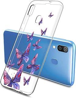 Oihxse Silicone Transparente Case avec Motif Papillon Compatible pour Samsung Galaxy M31 Coque Souple TPU Gel Mode 3D Dess...