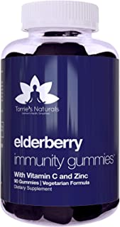 Torrie's Naturals - Elderberry Gummies, Immunity Support* for Kids & Adults, Sambucus Supplement with Zinc, Vitamin C - Ve...