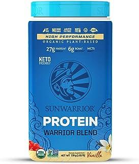 Sunwarrior Organic Vegan Protein Powder with BCAAs and Pea Protein (Warrior Blend - Vanilla, 30 Servings)