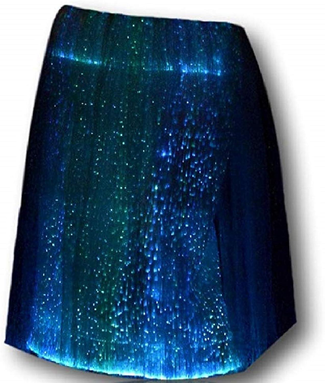 TrYptiX Womens Fiber Optic Light up Skirt