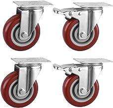 Katigan Duurzame Caster 4-delige set voor werkbanken, Silent polyurethaan rubberen wiel