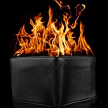 Magic Trick Big Flame Fire Wallet Stage Street Show Faux Leather Bifold Wallet