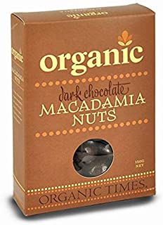 Organic Times Organic Dark Chocolate Coated Macadamias Packet, 150 g