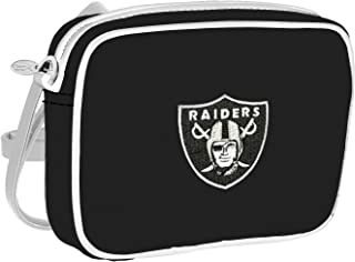 Charm 14 Cross Body Purse with Touchscreen for All Smartphones - Retail Packaging - Oakland Raiders