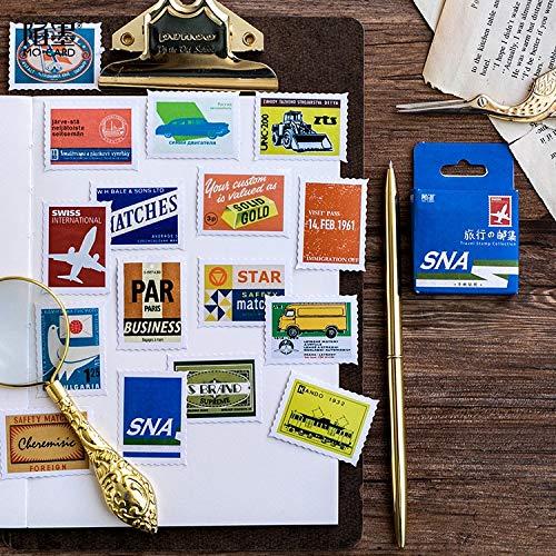 45 Pcs/lot Cute Travel Stamp Mini Sticker Decoration DIY Scrapbooking Sticker Stationery Kawaii Diary Label Stickers