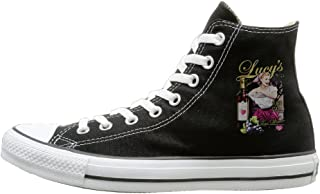 HoHo I Love Lucy Fun Unisex Black High-Tops Canvas Shoes