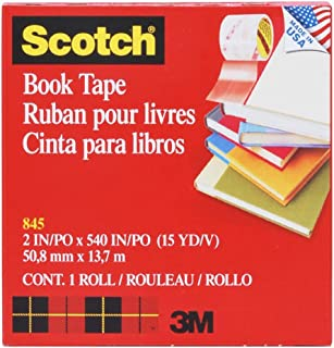 (3M 845-R2) (3M ID Number 70071422748) Scotch(TM) Book Tape 845-R 2 in x 540 in [You are purchasing the Min order quantity which is 6 ROLLS]