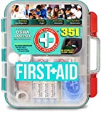 Be Smart Get Prepared - 351 Piece First Aid Kit - Exceeds OSHA ANSI/ISEA Standards for 100 People - Workplace, Home,...