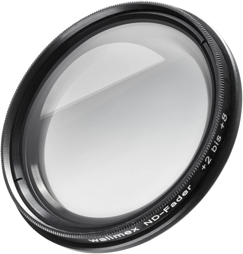 8 f-Stops Grey ND Fader Filter Walimex 55mm 2 to