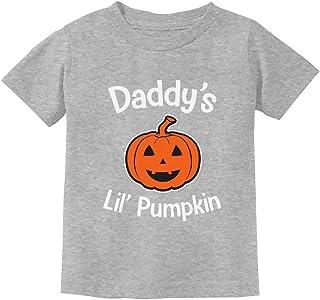 Daddy's Lil' Pumpkin Cute Halloween Jack O' Lantern Toddler Kids T-Shirt