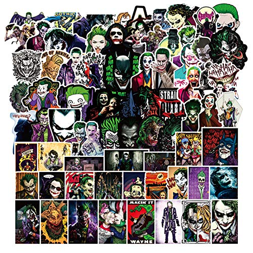 ZWANG Maleta Pegatina Payaso Joker Drama Americano Divertido Cuaderno Pegatina Coche eléctrico modificación Personalidad Marca Marea 10