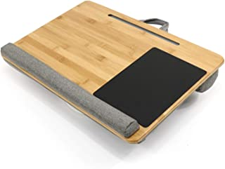 KEHUASHINA Large Lap Laptop Desk with Comfortable Pad Mouse Pad and Phone Pad Holder Fits Up to 15.6 Inch Laptops for Home...