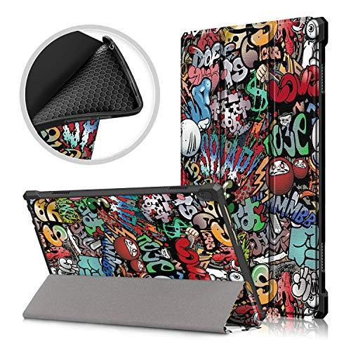 Acelive Cover Custodia per Lenovo Tab M10 Tablet 10.1' TB-X505L TB-X505F TB-X605F con Soft Posteriore in Morbido TPU