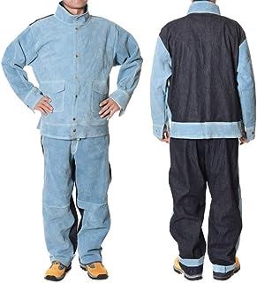 ATGTAOS Soudage Workwear Peau De Vache Souder Soudeur Isolation Anti-Échaudage Soudage Vêtements De Protection