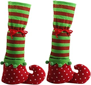 Christmas Elf Boot Wine Bottle Bag 2pc