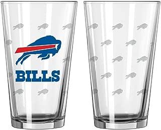 Boelter Brands Buffalo Bills Satin Etch Pint Glass Set