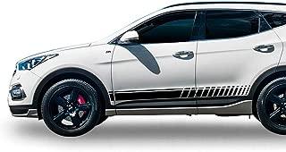 Bubbles Designs Decal Sticker Vinyl Offroad Racing Stripes Compatible with Hyundai Santa Fe 2012-2018
