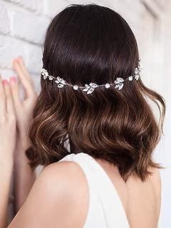 Unicra Bride Silver Wedding Headpieces Bridal Headbands Wedding Hair Pieces Accessories for Women and Girls