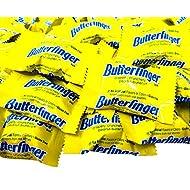 CrazyOutlet Butterfinger Bite Size Miniatures Crispy Milk Chocolate Bars Candy, Bulk 2 Lbs