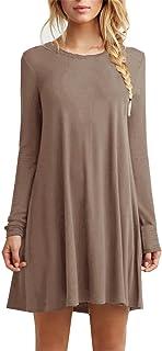 فستان فضفاض من TOPONSKY عادي بسيط للنساء