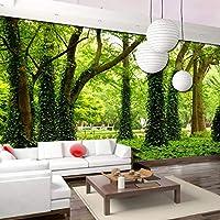 カスタムグリーンツリーフォレスト3D壁画壁紙リビングルームソファベッドルームテレビ背景写真壁紙モダンペインティング-300x210cm