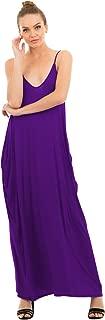 Women's Full-Length Harem Spaghetti Strap Maxi Dress with Pockets