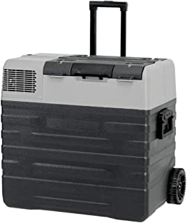 52L Brass Monkey Portable Fridge or Freezer with Solar Charger Board Plus Handles + Wheels and Supports Removable Battery