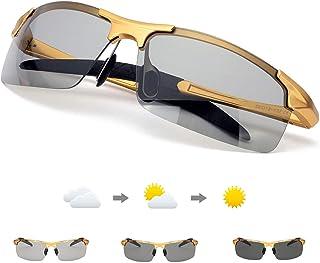 2f308d4623 Enafad Gafas de Sol Fotocromaticas con Estructura metálica-Gafas Polarizadas  Hombre Protección 100% UVA