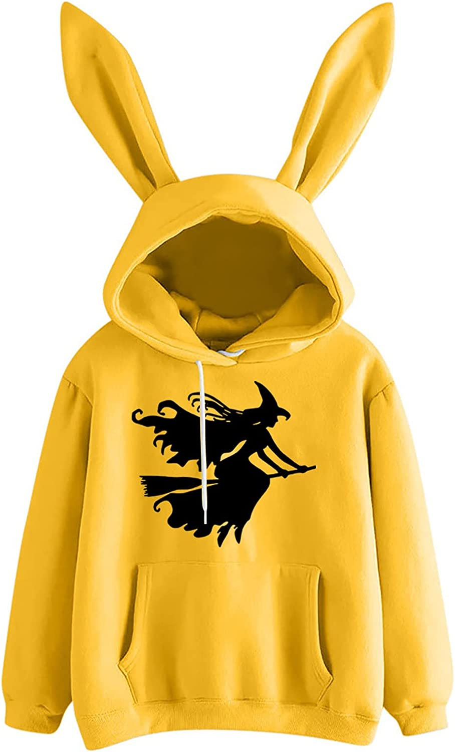Women's Fashion Cosplay Rabbit Hoodie Print Long Sweater New sales Sleeve In a popularity