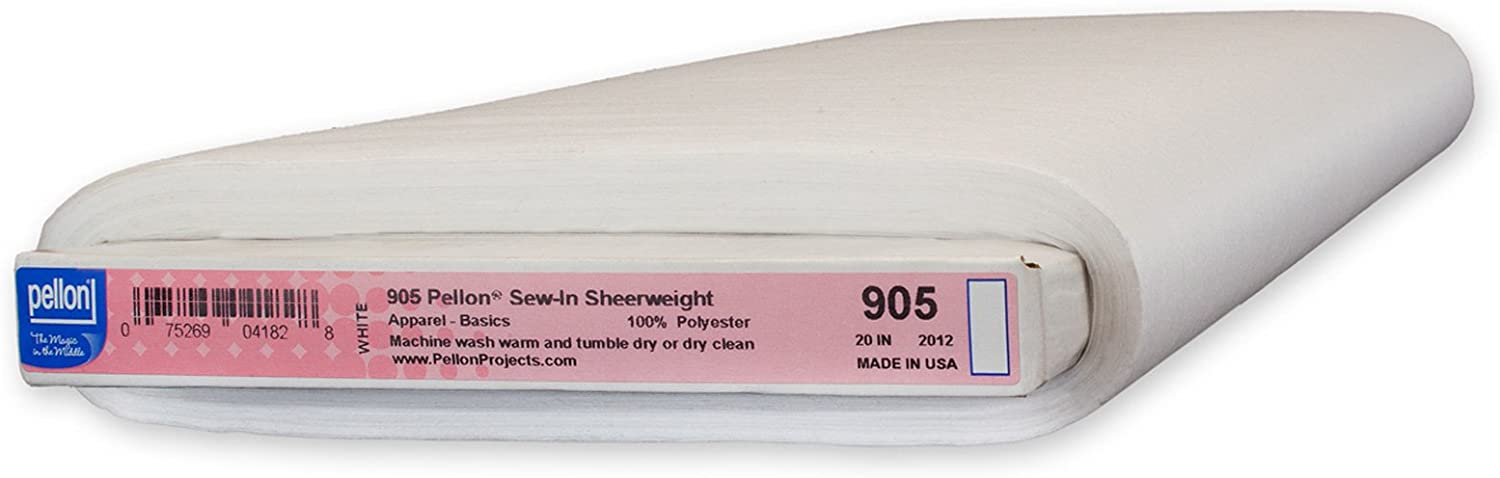 Pellon 905 Sew-in Challenge the lowest price of Japan ☆ Sheerweight Manufacturer OFFicial shop 1 Pack Bolt