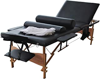 Portable Massage Table, BestComfort Height Adjustable Massage Table 3 Folding Massage Bed Spa Bed Facial Cradle Salon Bed With Carry Case