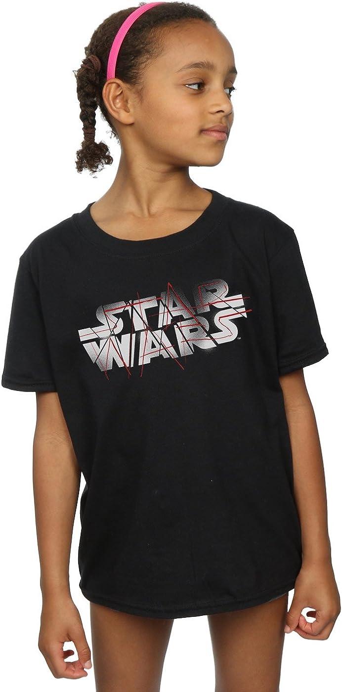 STAR WARS Girls The Last Jedi Spray Logo T-Shirt 7-8 Years Black