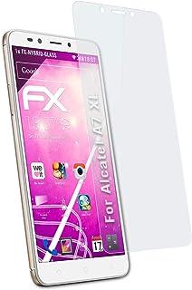 atFoliX Plastglasskyddsfilm är kompatibel med Alcatel A7 XL Glasskydd, 9H hybridglas FX Skyddsglas av plast