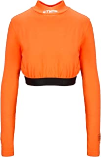 HERON PRESTON Luxury Fashion Womens HWAD008E196000031901 Orange Top | Fall Winter 19