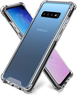 Trands Samsung Galaxy S10 Plus Tempered Glass Frost Shielded Hard Back Case Transparent Crystal Clear back cover