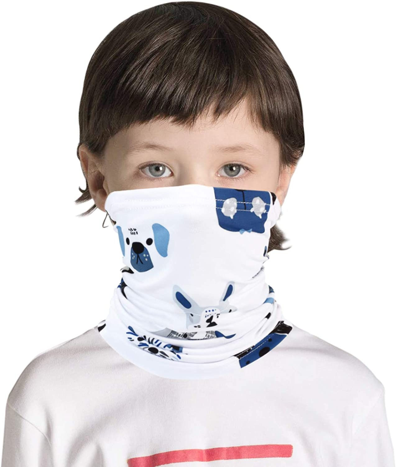 Kids Neck Gaiter Boys And Girls, Kids Bandana Face Cover Scarf Summer UV Protection For Outdoor Activities