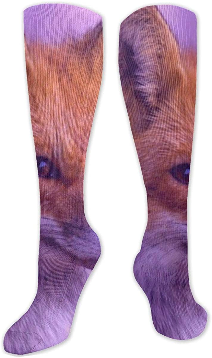 Cute Fox Knee High Socks Leg Warmer Dresses Long Boot Stockings For Womens Cosplay Daily Wear