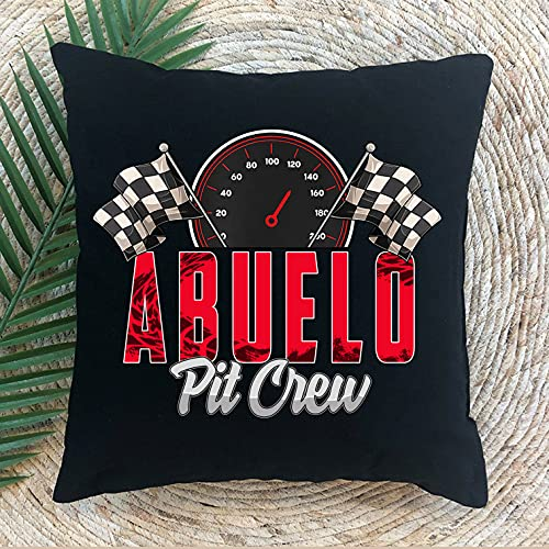 Personalized Pillow- Race Car Birthday Party Racing Family Abuelo Pit...