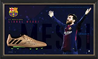 Sport Entertainment Products Lionel Messi Signed Boot Display